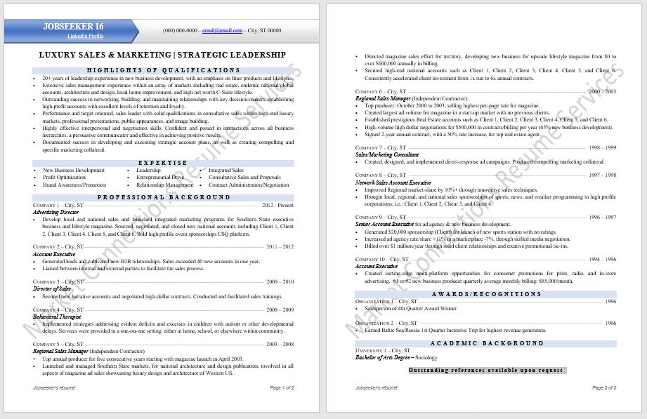 Modern Professional Resume Samples - Certified Resume Writer ...