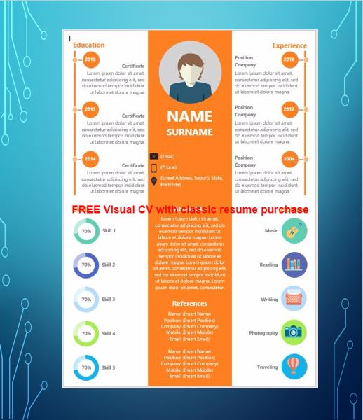 Visual Cv Samples Best Visual Resumes Professional Visual Resume
