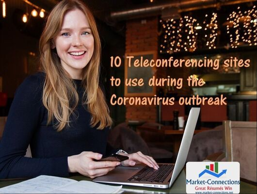 Teleconferencing during the Coronavirus Outbreak posted by https://www.market-connections.net