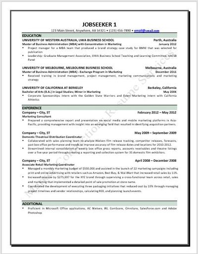 Resume example 2020, resume design 2020 by https://www.market-connections.net Jobseeker 1