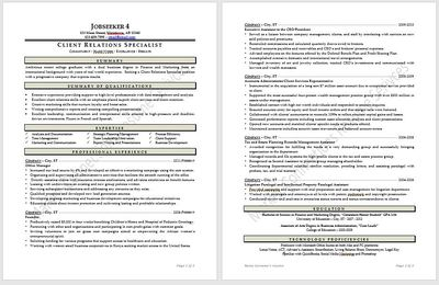 Resume example 2020, resume design 2020 by https://www.market-connections.net Jobseeker 4
