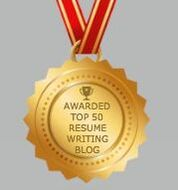 An Award medal for being in the Top 50 Resume Writing Blogs for https://www.Market-Connections.net