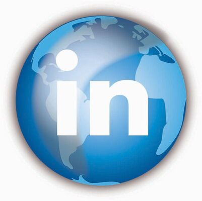 LinkedIn logo is posted on the globe picture for an article pertaining to LinkedIn new features posted by https://www.market-connections.net