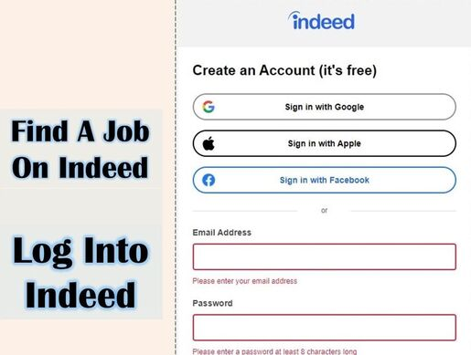 A picture of Log Into Indeed