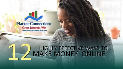 12 Highly effective ways to make money online by https://www.market-connections.net